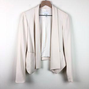Aritzia Babaton Dominick Cream Open Blazer Jacket